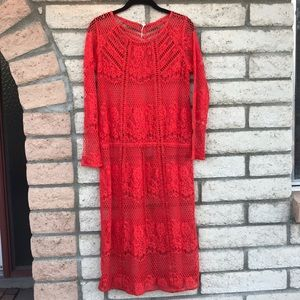 Free people lace red dress